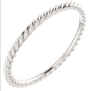 Stackable Silver Rope Band